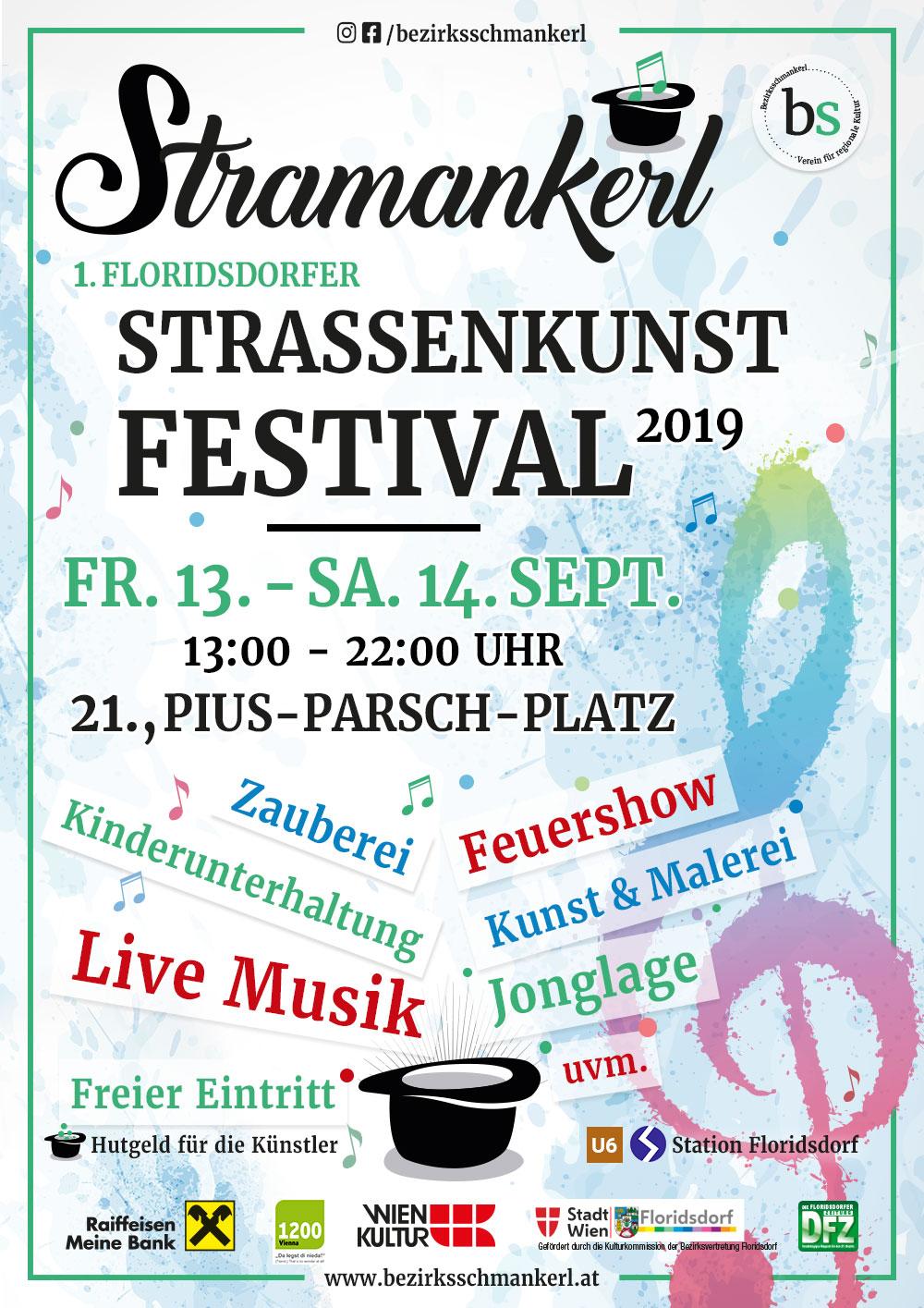 Stramankerl - 1. Floridsdorfer Straßenkunst Festival FR. 13. - SA. 14.09.2019