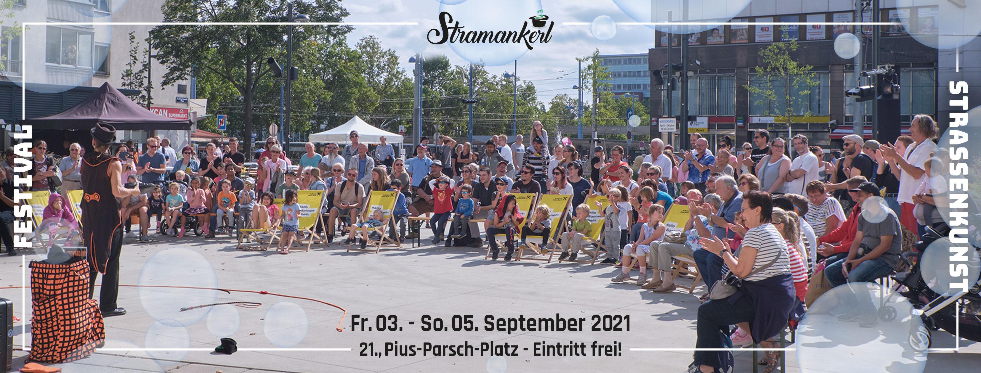 Stramankerl - Floridsdorfer Straßenkunst Festival Fr. 03. - So. 05.09.2020